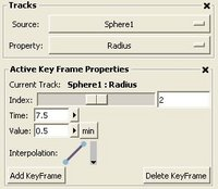 Active Key Frame Properties with 3 keyframes in track