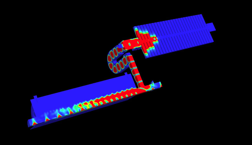 Power Flow in the CLIC Two-Beam Accelerator