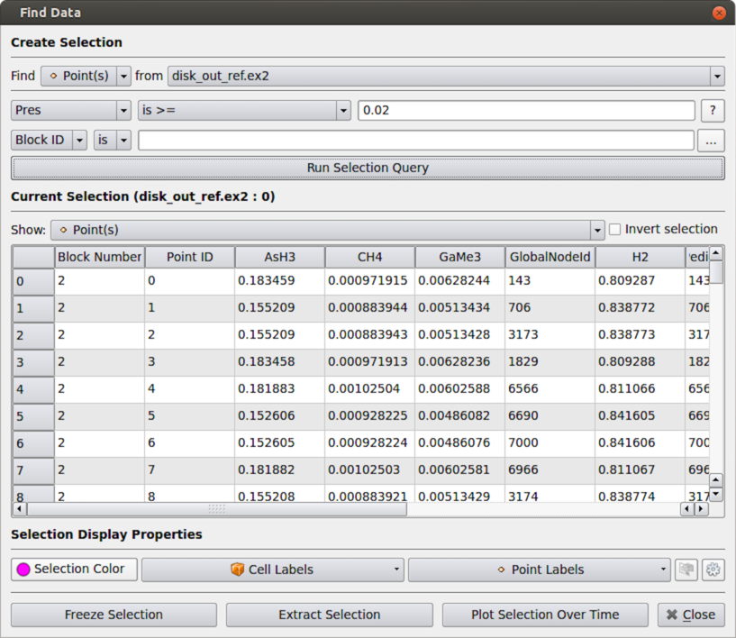 Figure 13: Find Data dialog used to query data elements.